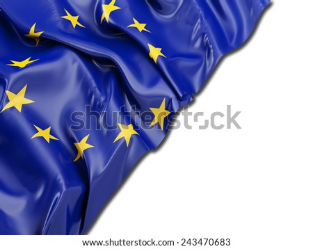 Europe flag with white