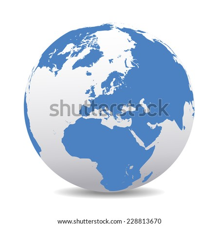 Europe Global World  - stock photo