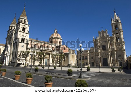 europe, italy, sicily, acireale, dome square