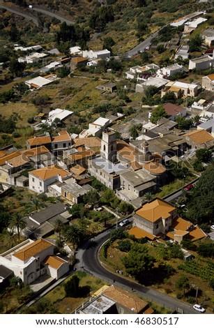 Europe, Italy, Sicily, salina, rinella from above - stock photo