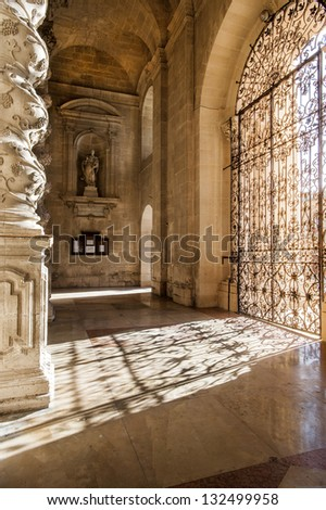 europe, italy, sicily, siracusa, dome nartex - stock photo