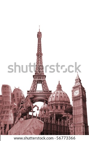 Europe Landmark design - stock photo