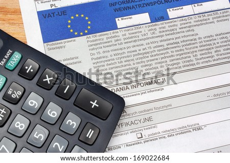Europe vat tax polish individual - stock photo