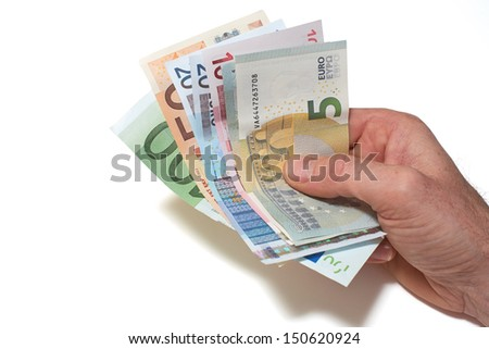 European Bank notes, Euro  currency from Europe, Euros.