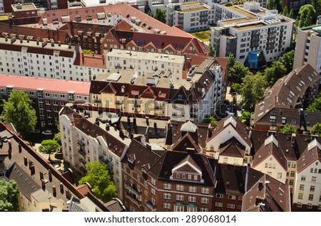 European building in Hamburg, Germany - stock photo