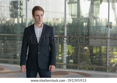 European businessman outdoors