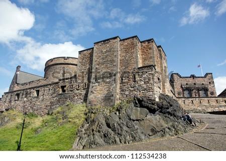 european castles/britain, scotland, portugal/ - stock photo