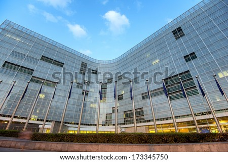 European comission building in Brussels, Belgium