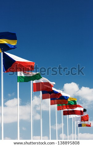 European country flags - stock photo