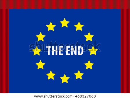 European Crisis Concept,  isolated symbol with copy space on white