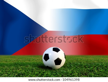European cup Group A  Include  Poland Greece Russia and Czech - stock photo