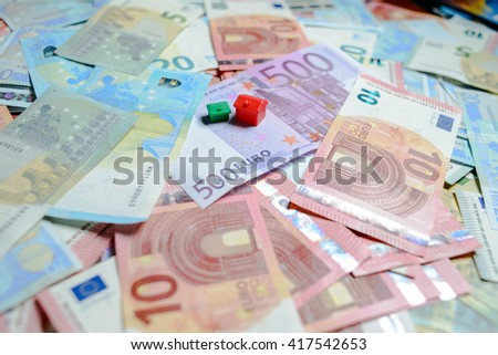 European currency money euro banknotes, credits, leasing.