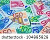 European currency notes - euros - stock photo