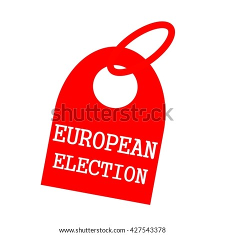 EUROPEAN ELECTION white wording on background red key chain