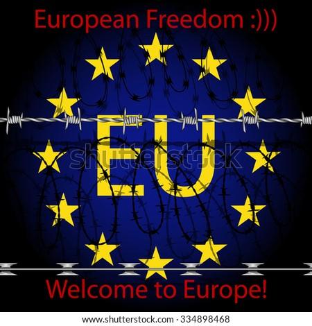European Freedom - stock photo