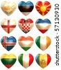 European Hearts - stock photo