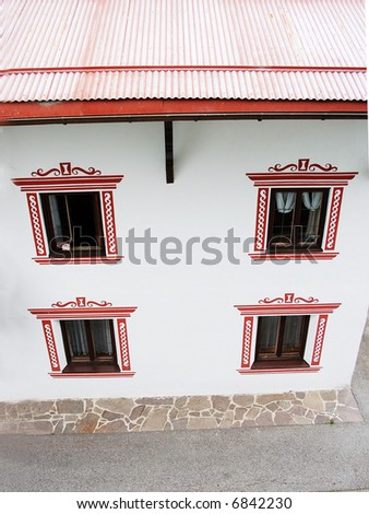 European house - stock photo