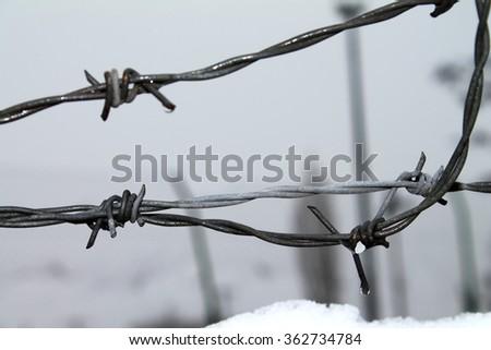 European migrant crisis - looming winter - stock photo