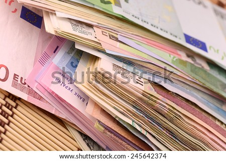 european money - stock photo