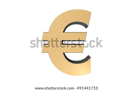 European Money, Euro Money, 3D Visual Icon, Currency, Black And Gold