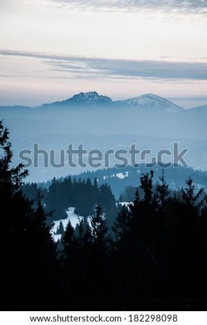 European mountain landscape - stock photo