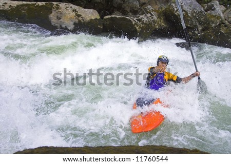 European rafting championship R6 on the rapids of river Vrbas near Banja Luka, Republika Srpska, Bosnia and Herzegovina
