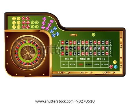 european roulette table. - stock photo
