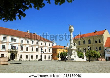 European square in OSijek, Croatia - stock photo