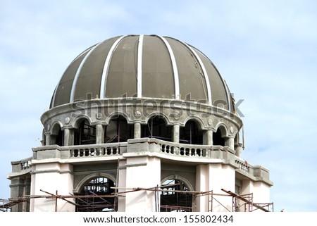 European-style dome - stock photo