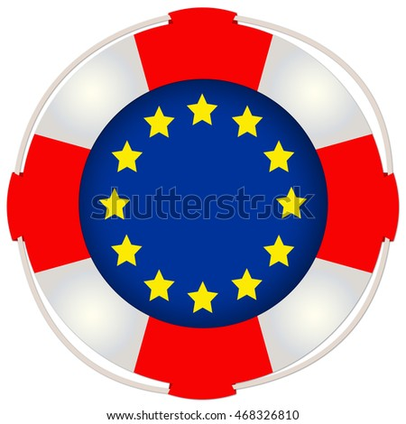 European Symbol of Refugee Crisis, Isolated with copy space on white