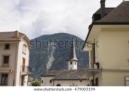 European town and houses