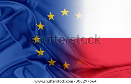 European Union and Poland. The concept of relationship between EU and Poland. - stock photo