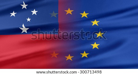 European Union and Samoa. The concept of relationship between EU and Samoa.