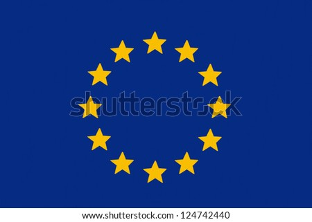 European Union countries flag drawing by pastel on charcoal paper - stock photo