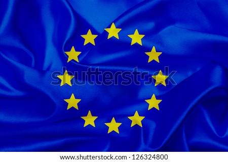European Union countries  waving flag - stock photo