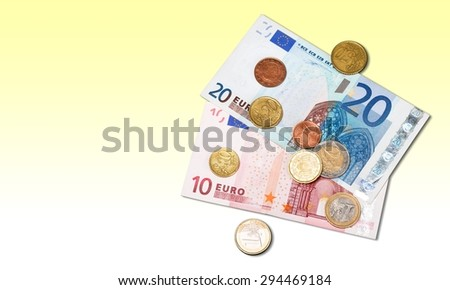 European Union Currency, Coin, Currency.
