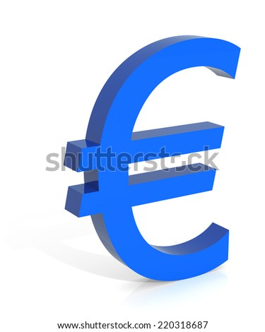 European Union Currency. Digitally Generated 3D Image.