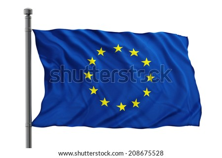 European Union flag - stock photo