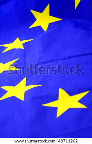 european union flag background with copypsace for textmessage - stock photo