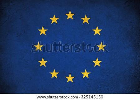 European Union grunge flag a background illustration of europe country - stock photo
