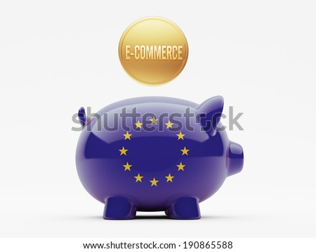 European Union High Resolution E-Commerce Concept - stock photo