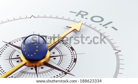 European Union High Resolution ROI Concept - stock photo