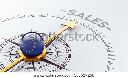 European Union High Resolution Sale Concept - stock photo