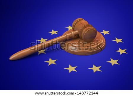 European Union legislature and legal issues concept - stock photo