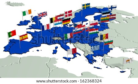 European Union with Flags 1