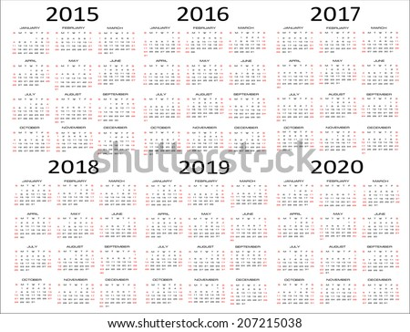 Search Results for: 5 Year Calendar 2015 2020 Printable