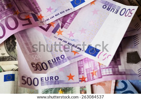 Euros - good background for business concept