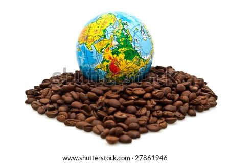 eurostep and coffee - stock photo