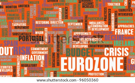 Eurozone Crisis and Debt Problems in Europe - stock photo