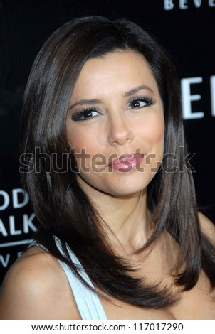 Eva Longoria at the celebration for The Rodeo Drive Walk of Style Award given to Gianni and Donatella Versace. Beverly Hills City Hall, Beverly Hills, CA. 02-08-07 - stock photo